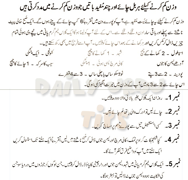 Weight Loss Tips For Mens Womens In Urdu