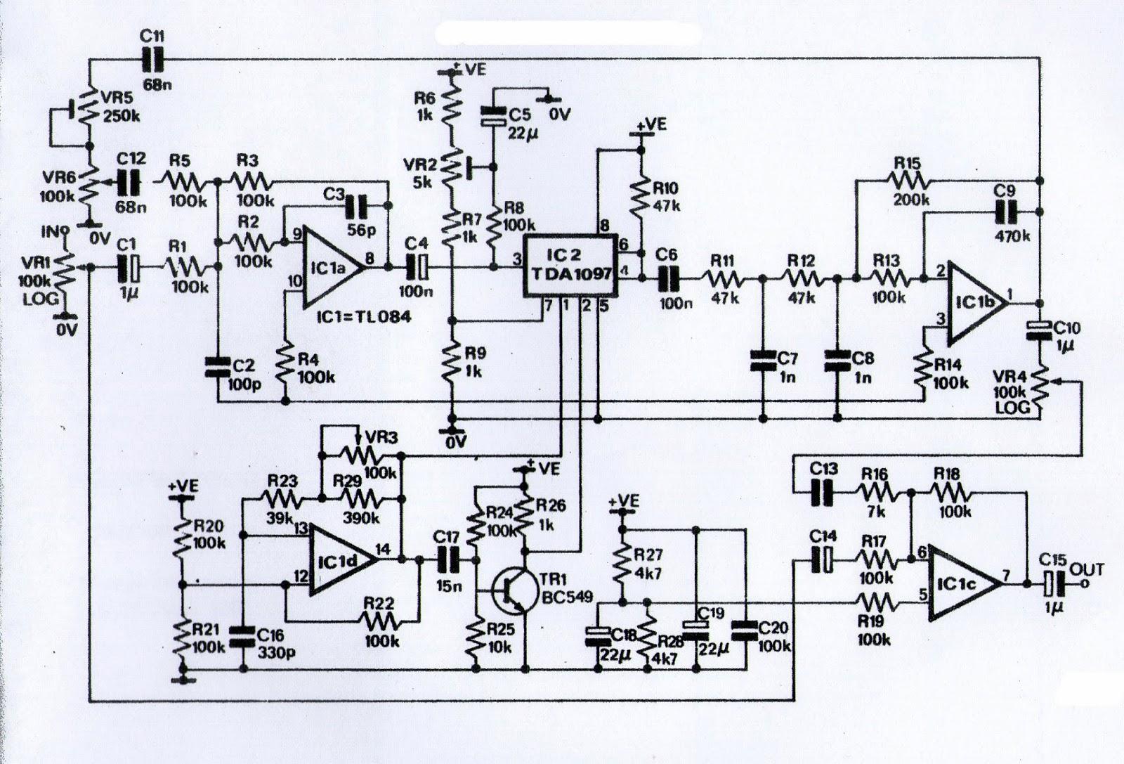 Skema Echo Repeater Ic Tda