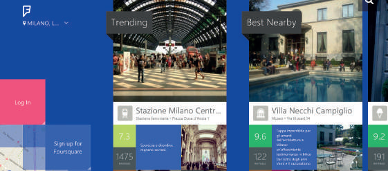 Foursquare app windows 10