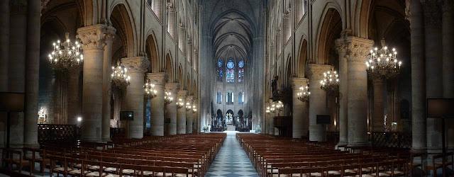 Notre Dame Cathredal Paris inside