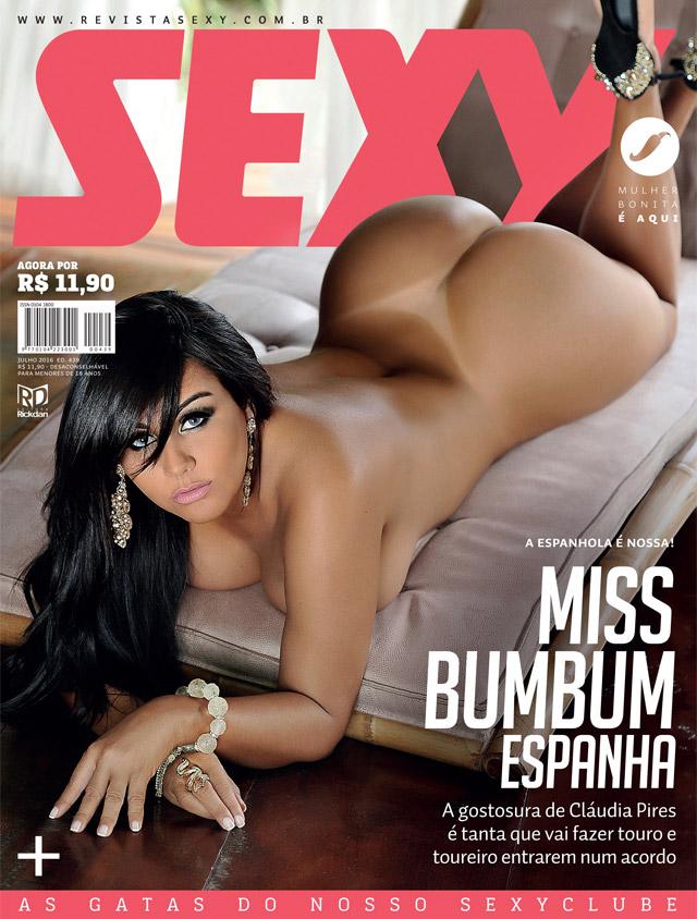 Claudia Pires, dona da Beth Cuscuz, estrela capa da revista Sexy de julho