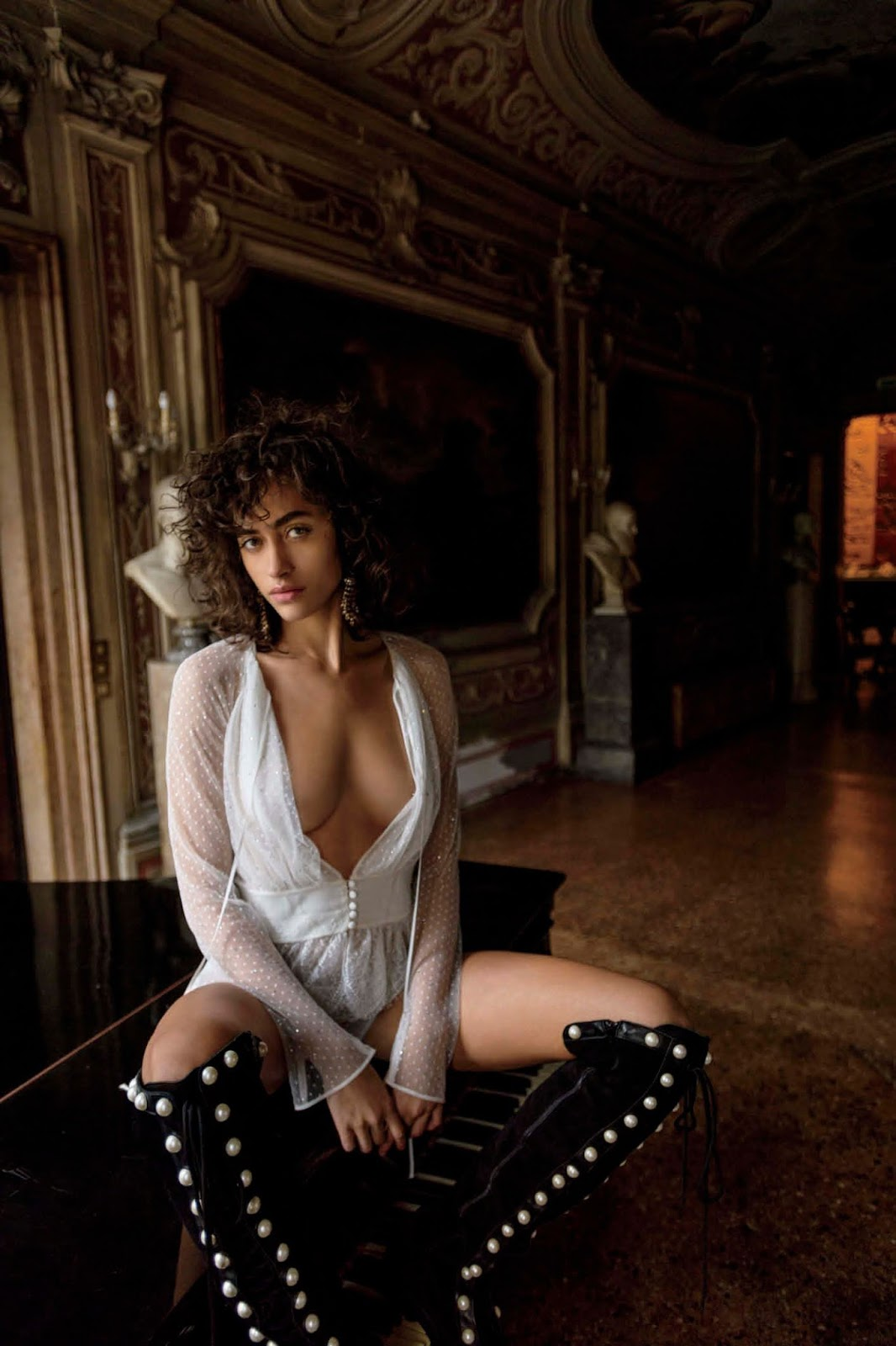 Alanna Arrington in Maxim US March/April 2018 by Gilles Bensimon