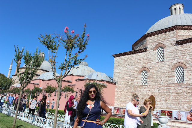 Blue mosque during Bairam