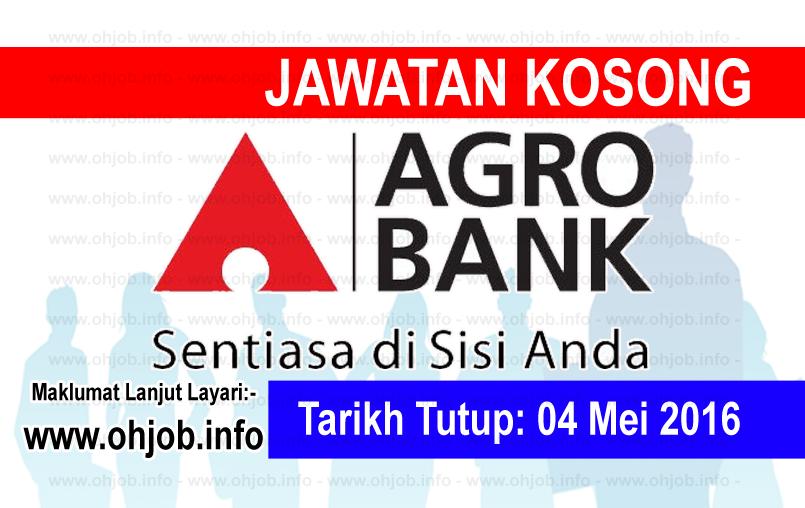 Jawatan Kerja Kosong Bank Pertanian Malaysia Berhad (Agrobank) logo www.ohjob.info mei 2016