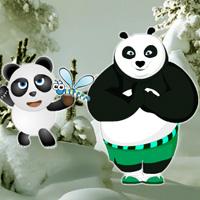 Panda Snow Forest Escape