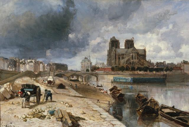 Jongkind Notre-Damevue du quai de la Tournelle © Petit Palais / Roger-Viollet