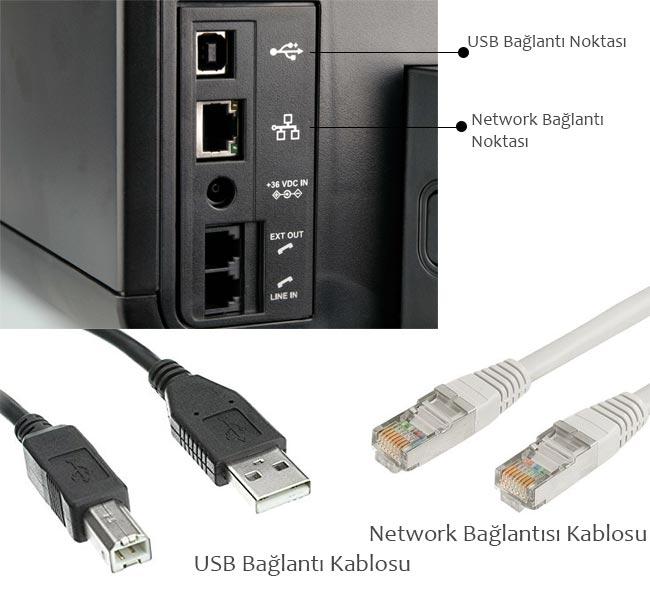 usb ve network yazıcısı