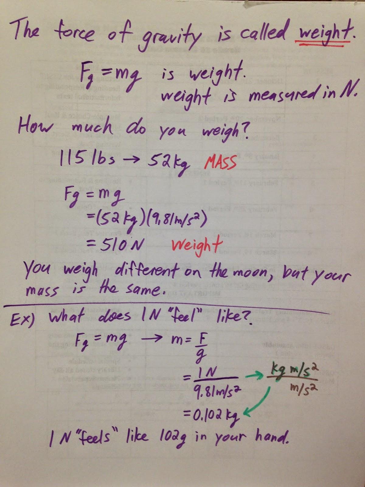 Grade 11 Physics Oct 9 Newton S 2nd Law