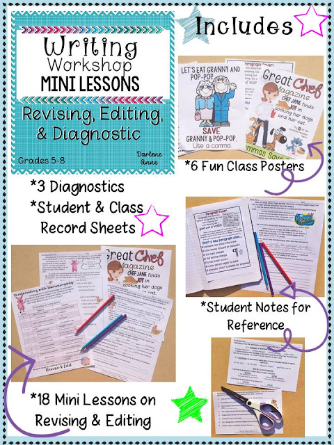 https://www.teacherspayteachers.com/Product/WRITING-WORKSHOP-MINI-LESSONS-REVISION-EDITING-DIAGNOSTIC-MIDDLE-SCHOOL-ELA-2069202