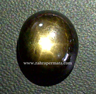 Batu Permata Black Saphire Star
