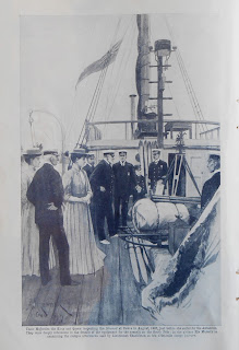 Image of the king and queen inspecting the Nimrod