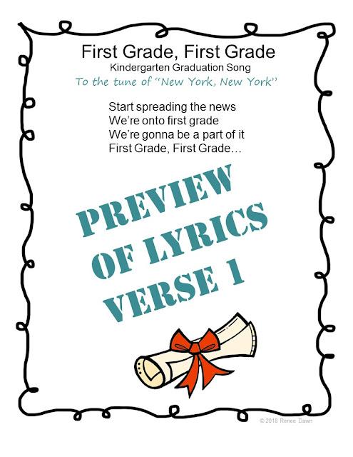 https://www.teacherspayteachers.com/Product/Kindergarten-Graduation-Song-First-Grade-First-Grade-3713469