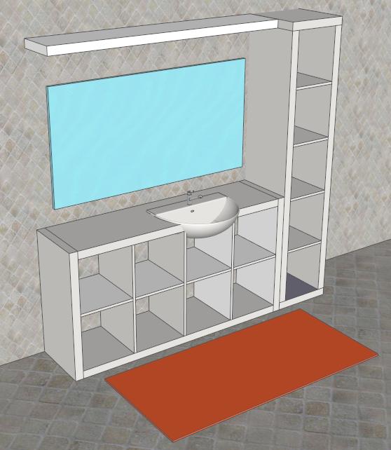 FaiDaTe con SketchUp: Mobile per il bagno. Facile, bello ed economico
