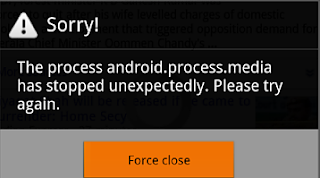 The process android.process.media has stopped unexpectedly. Please try again.