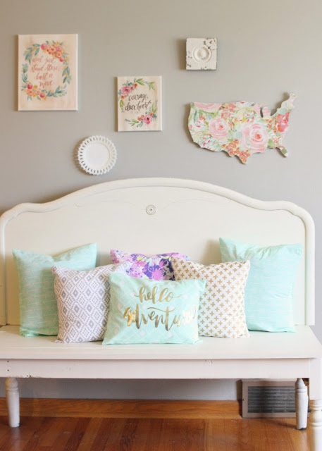 bench, fab flippin contest, painted bench, repurposed bench, how to make pillows, diy
