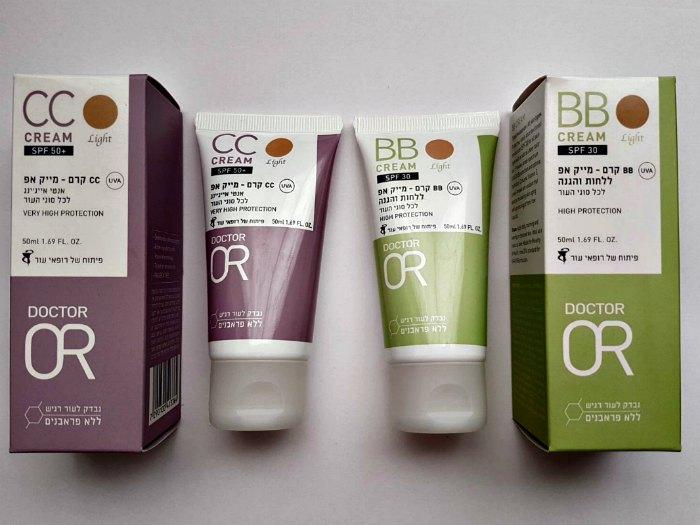 """קרמי BB  ו-CC של ד""""ר עור – מקדם הגנה חזק ואנטי אייג'ינג"""