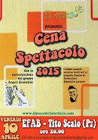 10 APRILE 2015 CENA SPETTACOLO 2015
