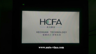 Công ty Auto Vina sửa chữa, thay hiển thị LCD màn hình HMI HCFA TL1370-WTFT, LCD bị sọc kẻ, bị tối đen, sáng mờ