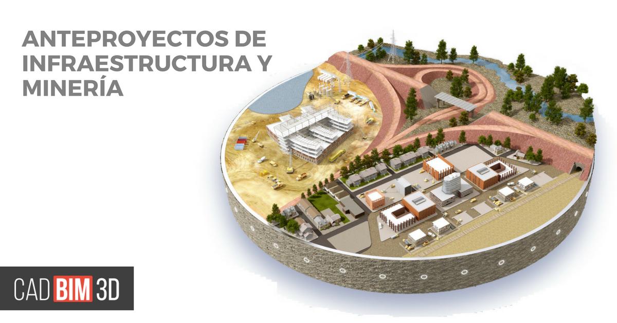 elaboracion de anteproyectos de Infraestructura y Minería con Infraworks