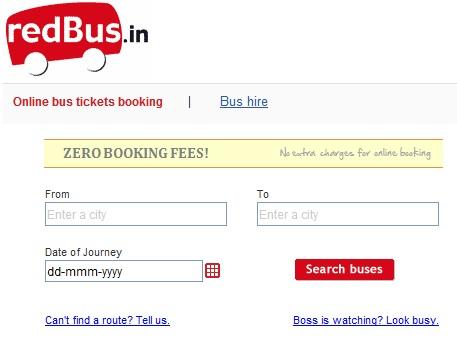 Redbus Online Booking