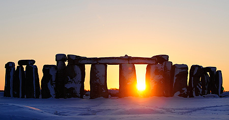 Stonehenge Sunset Winter Image