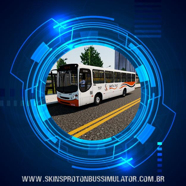 Skin Proton Bus Simulator - Comil Svelto 2000 MB OF-1418 Auto Viação Santa Cruz