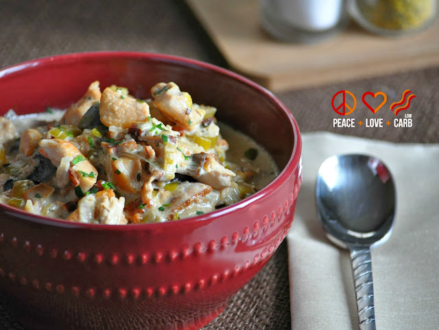 Slow Cooker Chicken Bacon Chowder - Low Carb, Gluten Free   Peace Love and Low Carb