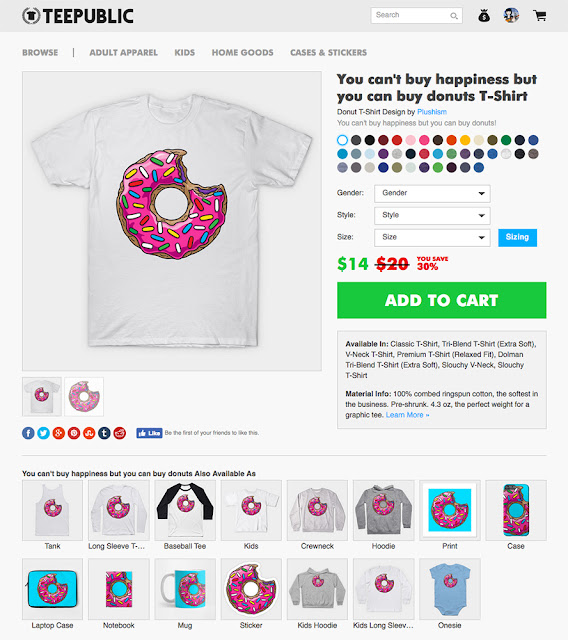 https://www.teepublic.com/t-shirt/1391365-you-cant-buy-happiness-but-you-can-buy-donuts