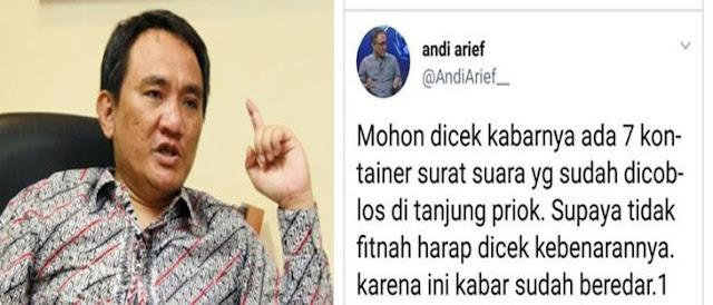 Romo Syafi'i: Kicauan Andi Arief Minta Dicek Dibilang Hoax, Kelewatan Rezim Ini