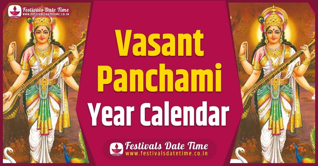 Vasant Panchami Year Calendar, Vasant Panchami Festival Schedule