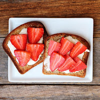 Paleo Toast with Strawberries and Cream Cheese