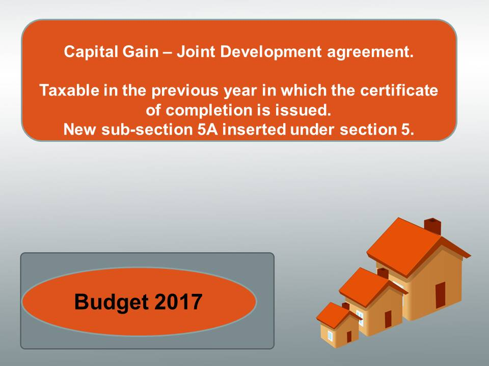 Tax And Law Directory Capital Gain  Joint Development Agreement