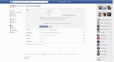 Membuat Nama Profil Facebook Jadi Satu Kata