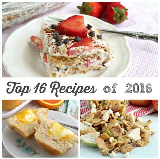 Looking for recipe inspiration in the new year? These are the Top 16 Recipes of 2016 on Frugal Foodie Mama as clicked on, pinned, and shared by you.