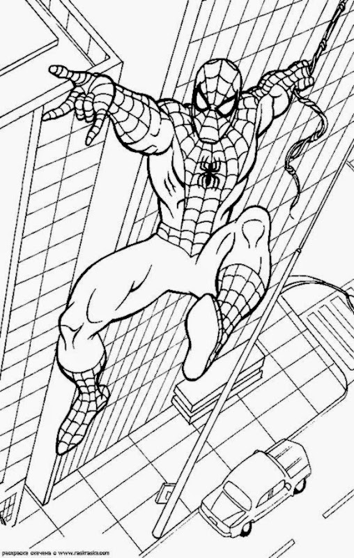 spiderman sandman coloring pages - photo#24