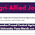 Various Agriculture & Allied Posts | Dr. Rajendra Prasad Central Agricultural University Pusa-March 2018