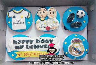 Cupcake Ulang Tahun Tema Real Madrid
