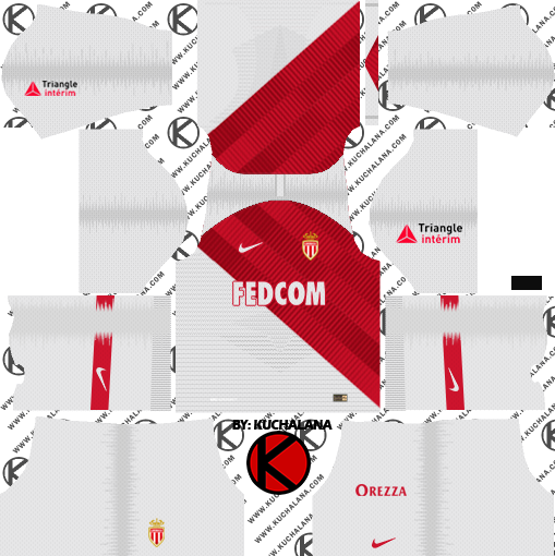 6fb314b0c9c AS Monaco FC 2018 19 Kit - Dream League Soccer Kits - Kuchalana