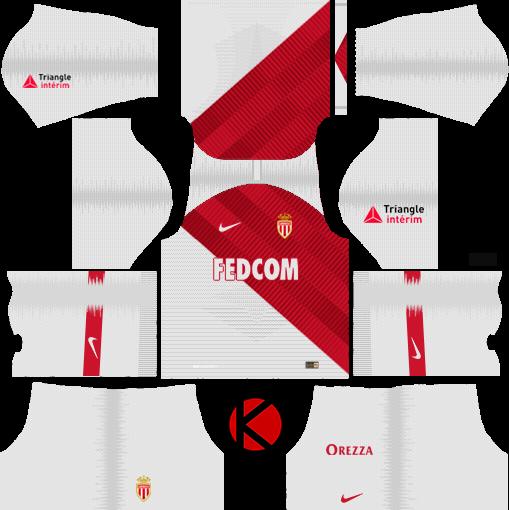 AS Monaco FC 2018/19 Kit - Dream League Soccer Kits