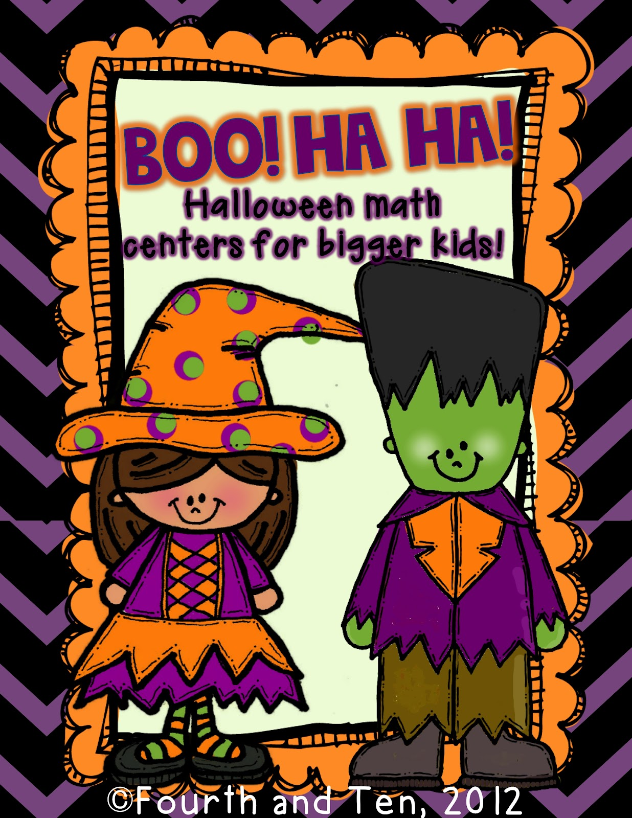 Fourth And Ten Boo Ha Ha Halloween Math Centers For