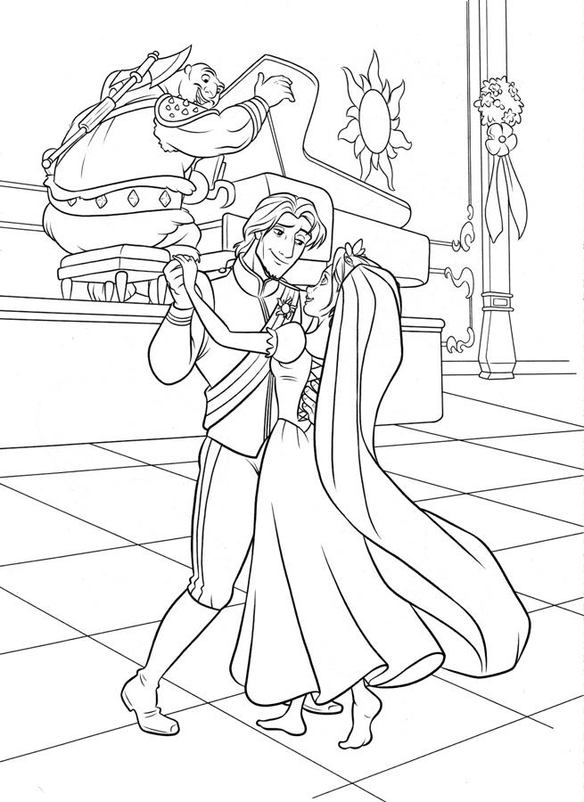 Зачарованный мир: Рапунцель - раскраски с персонажами ...
