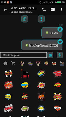 BBM DARK-L MATERIAL V-2 2.9.0.49 APK (Back Up Sticker)
