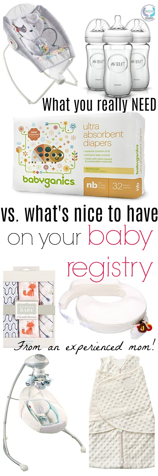 what you really need on your baby registry vs. what's nice to have on your baby registry from an experienced mom's perspective