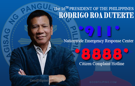 Duterte's nationwide complaint and emergency hotlines coming on August 2016