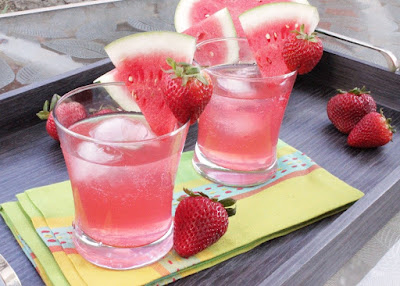 Strawberry Watermelon Refresher Recipe