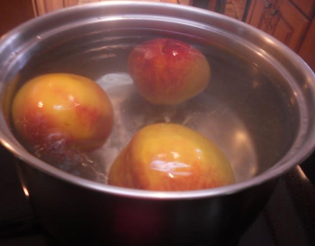 Blanch the Peaches