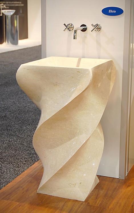 unique pedestal sink   Charcoal decores : STONE PEDESTAL SINK