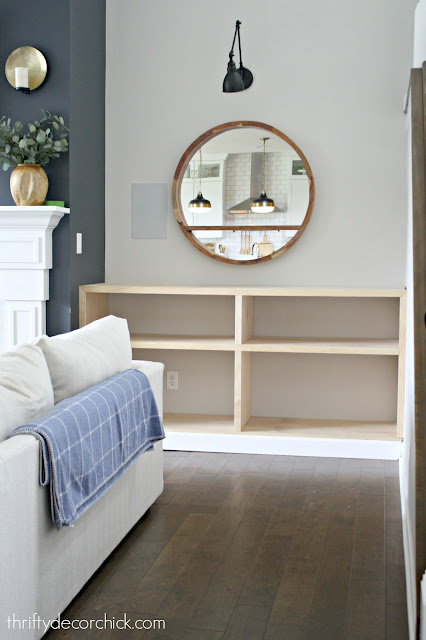 Easy build -- DIY bookcase by fireplace