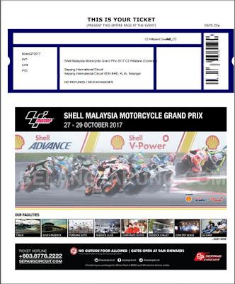 Contoh Tiket MotoGP Online