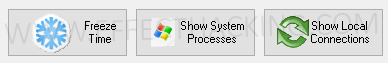 Freeze Time, Show System Processes, and Show Local Connections Buttons